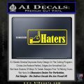 Haters Middle Finger Facebook Decal Sticker Yellow Laptop 120x120
