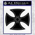 He Man Iron Cross Crest D1 Decal Sticker Black Vinyl Black 120x120