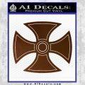 He Man Iron Cross Crest D1 Decal Sticker Brown Vinyl Black 120x120