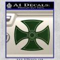 He Man Iron Cross Crest D1 Decal Sticker Dark Green Vinyl Black 120x120