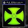He Man Iron Cross Crest D1 Decal Sticker Neon Green Vinyl Black 120x120
