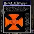 He Man Iron Cross Crest D1 Decal Sticker Orange Emblem Black 120x120