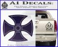 He Man Iron Cross Crest D1 Decal Sticker Purple Vinyl Black 120x97