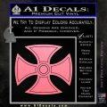 He Man Iron Cross Crest D1 Decal Sticker Soft Pink Emblem Black 120x120