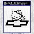 Hello Kitty Chevy Cheverolet D2 Decal Sticker Black Vinyl 120x120