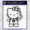 Hello Kitty Gangster Decal Sticker Black Vinyl 120x120