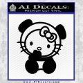 Hello Kitty Panda Decal Sticker Black Vinyl 120x120