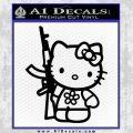 Hello Kitty Rifle Decal Sticker Black Vinyl Black 120x120