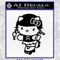 Hello Kitty Roller Derby Decal Sticker Black Vinyl Black 120x120