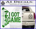 I Got Game Compound Bow Archery Deer Decal Sticker Green Vinyl Logo 120x97
