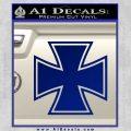 Iron Cross 1 Decal Sticker Blue Vinyl 120x120
