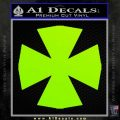 Iron Cross Decal Celtic Sticker D10 Lime Green Vinyl 120x120