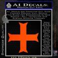 Iron Cross Decal Celtic Sticker D11 Orange Emblem 120x120