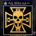 Iron Cross Motor Head Skull Decal Sticker Gold Vinyl 120x120