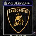 Lamborghini D1 Decal Sticker Gold Vinyl 120x120