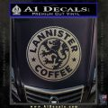 Lanister Coffee Game Of Thrones Starbucks Decal Sticker Carbon FIber Chrome Vinyl 120x120