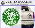 Lanister Coffee Game Of Thrones Starbucks Decal Sticker Green Vinyl Logo 120x97