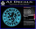 Lanister Coffee Game Of Thrones Starbucks Decal Sticker Light Blue Vinyl 120x97