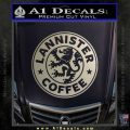 Lanister Coffee Game Of Thrones Starbucks Decal Sticker Metallic Silver Emblem 120x120