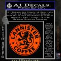 Lanister Coffee Game Of Thrones Starbucks Decal Sticker Orange Emblem 120x120
