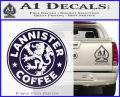 Lanister Coffee Game Of Thrones Starbucks Decal Sticker PurpleEmblem Logo 120x97