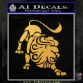 Leo Zodiac Decal Sticker Intricate Gold Vinyl 120x120