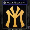 Lil Wayne Young Money Decal Sticker Gold Vinyl 120x120