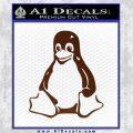 Linux Penguin Decal Sticker BROWN Vinyl 120x120