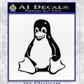 Linux Penguin Decal Sticker Black Vinyl 120x120