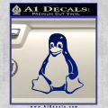 Linux Penguin Decal Sticker Blue Vinyl 120x120