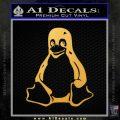 Linux Penguin Decal Sticker Gold Vinyl 120x120