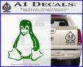Linux Penguin Decal Sticker Green Vinyl Logo 120x97