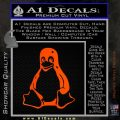 Linux Penguin Decal Sticker Orange Emblem 120x120