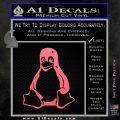 Linux Penguin Decal Sticker Pink Emblem 120x120