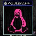 Linux Penguin Decal Sticker Pink Hot Vinyl 120x120