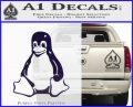Linux Penguin Decal Sticker PurpleEmblem Logo 120x97