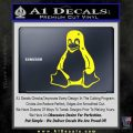 Linux Penguin Decal Sticker Yellow Laptop 120x120