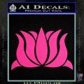 Lotus Flower Decal Sticker D1 Pink Hot Vinyl 120x120