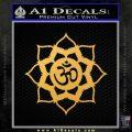 Lotus Om Symbol D1 Decal Sticker Gold Vinyl 120x120
