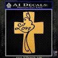 Love Cross Crucifix Decal Sticker Gold Vinyl 120x120