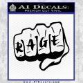 MMA Fist Rage Decal Sticker UFC Black Vinyl 120x120