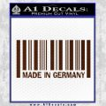 Made In Germany Decal Sticker BMW BROWN Vinyl 120x120