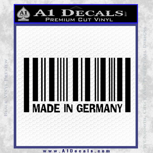 Made In Germany Decal Sticker BMW Black Vinyl