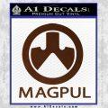 Magpul Firearms Decal Sticker BROWN Vinyl 120x120