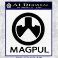Magpul Firearms Decal Sticker Black Vinyl 120x120