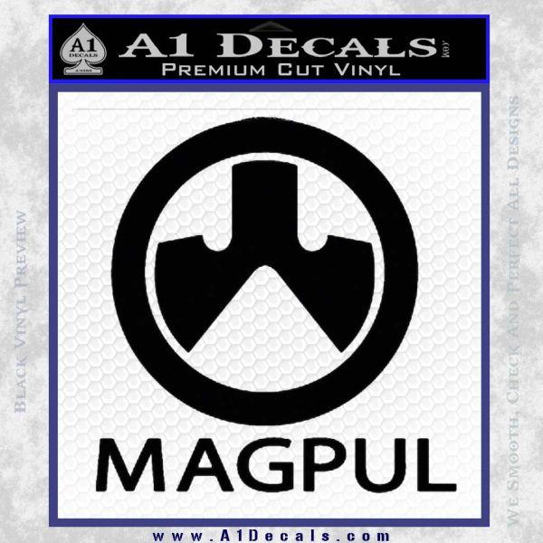 Magpul Firearms Decal Sticker Black Vinyl