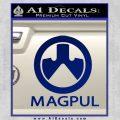 Magpul Firearms Decal Sticker Blue Vinyl 120x120