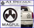 Magpul Firearms Decal Sticker Carbon FIber Black Vinyl 120x97