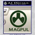 Magpul Firearms Decal Sticker Dark Green Vinyl 120x120