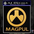 Magpul Firearms Decal Sticker Gold Vinyl 120x120